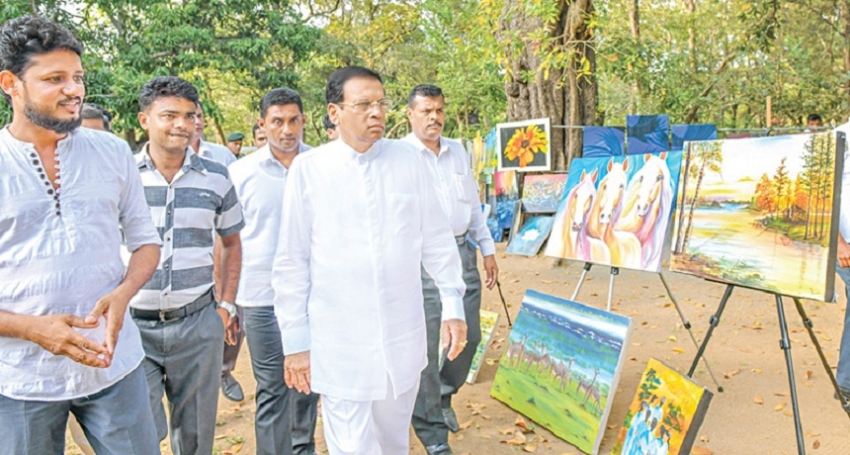 President visits Art Competition
