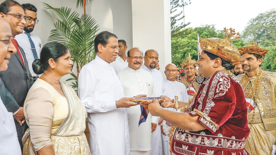 President presented Sannasa on successful conclusion of Kandy Esala Perahera