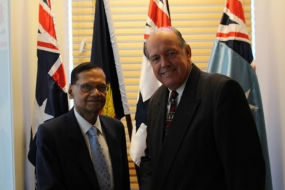 AUSTRALIAN DEFENCE MINISTER APPRECIATES SRI LANKA'S ROLE IN COMBATING PEOPLE SMUGGLING