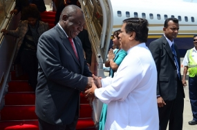 South African Acting President arrives in Sri Lanka