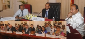 Prof.Peiris briefs diplomats on Govt. action against terrorist funding