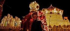 First Kumbal Perahera parades the streets in Kandy today
