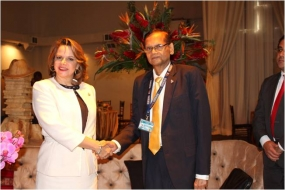 Minister Peiris briefs Costa Rican Vice President on Sri Lankan Issues
