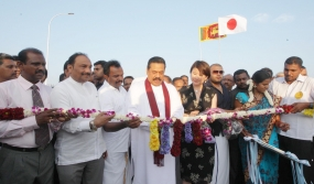 President opens Manmunai Bridge in Batticaloa