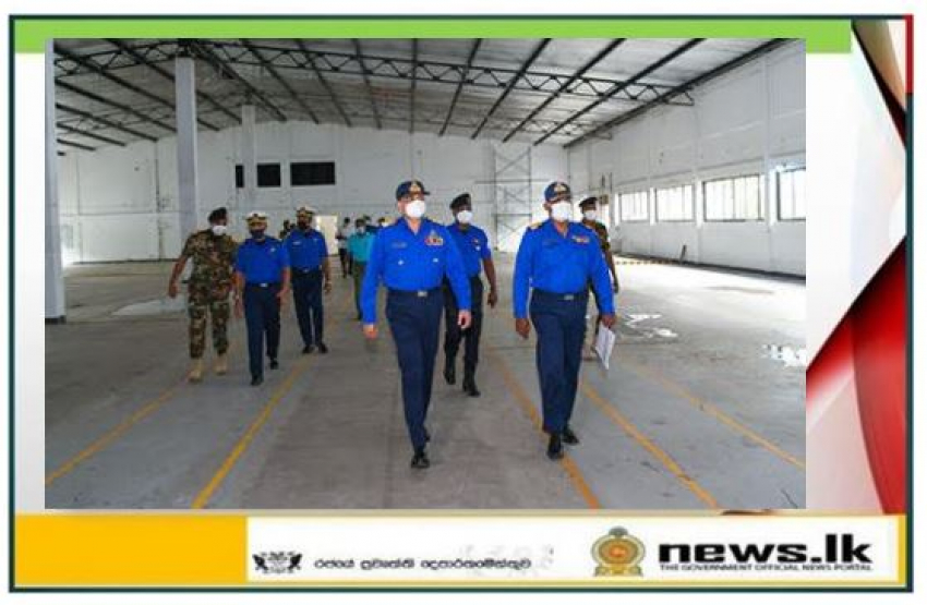 Commander of the Navy inspects health care facility expansion projects for COVID -19 treatment
