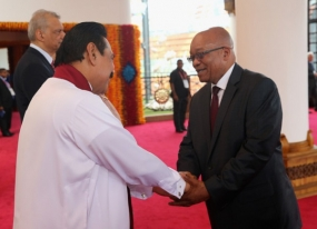 President Rajapaksa Congratulates South African President on ANC Election Victory