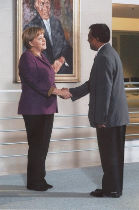 Departing Sri Lankan Ambassador meets German Federal Chancellor and Federal Foreign Minister