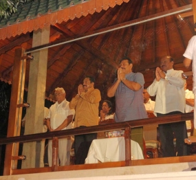President views Final Randoli Perahera in Kandy