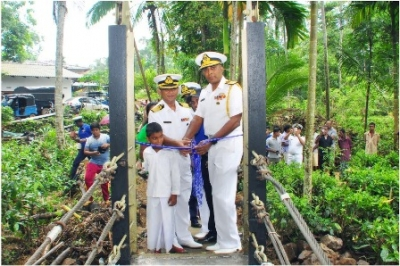 Reconstructed 'Welamiriya Suspension Bridge' opened