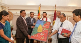 Presentation of Crafts Map of Sri Lanka to President Mahinda Rajapaksa