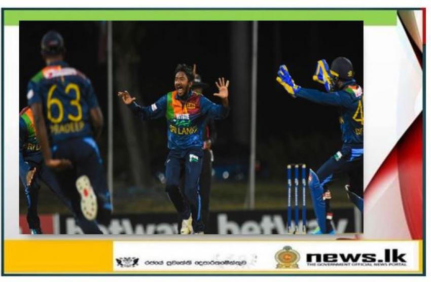 Akila Dananjaya takes three wickets against West Indies