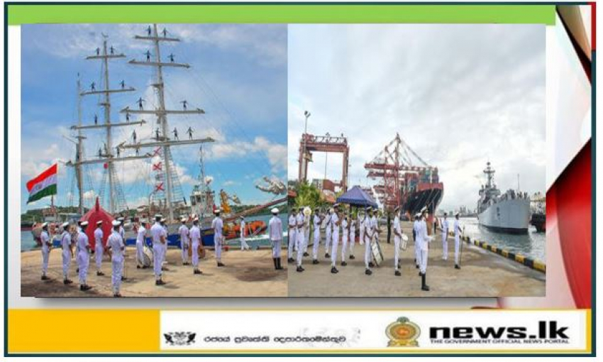 01st Training Squadron of Indian Navy arrives in Colombo and Trincomalee for bilateral naval exercise