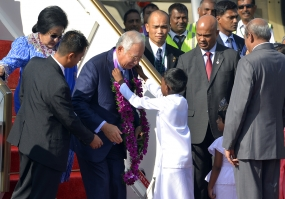 Malaysian PM arrives in the island