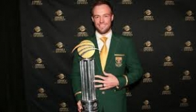 AB de Villiers  named South Africa's Cricketer of the Year