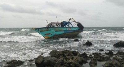 Navy rescues 04 Indian fishermen aboard distressed trawler in Kachchativu seas