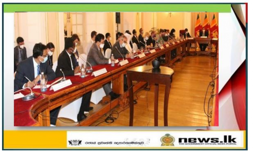 Foreign Minister Prof. G. L. Peiris addresses the Diplomatic Community at Foreign Ministry