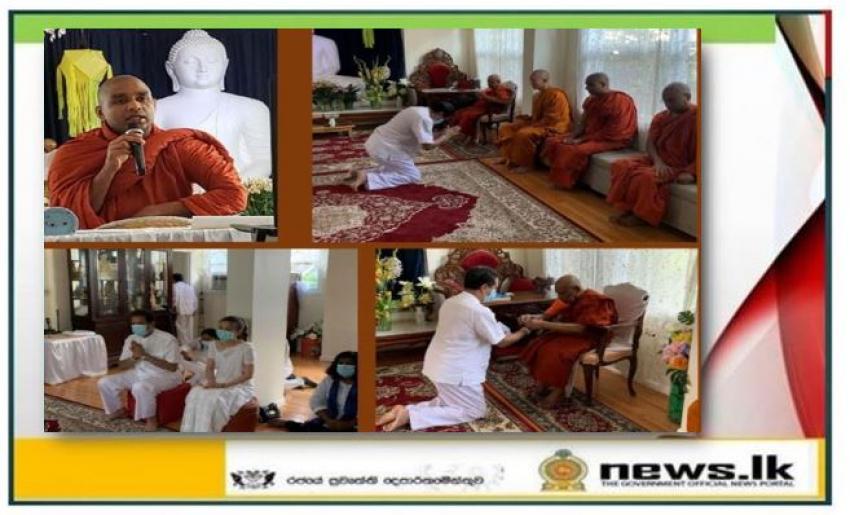 Sri Lankan Embassy in Washington D.C. Organizes Dhamma Sermons to Observe Vassana Dhamma Programme 2020