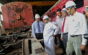 Ministers observes renovation of old train compartments
