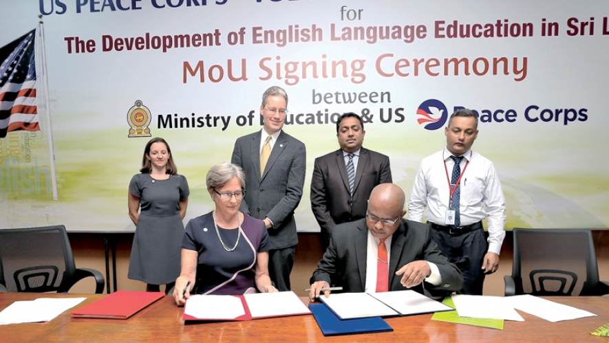 U.S. Peace Corps, Education Ministry sign MoU on English education