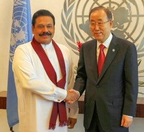President Rajapaksa and UN Sec-Gen Meet in New York
