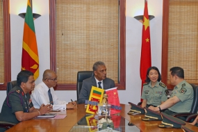 Chinese NDC delegation meets Defence Secretary