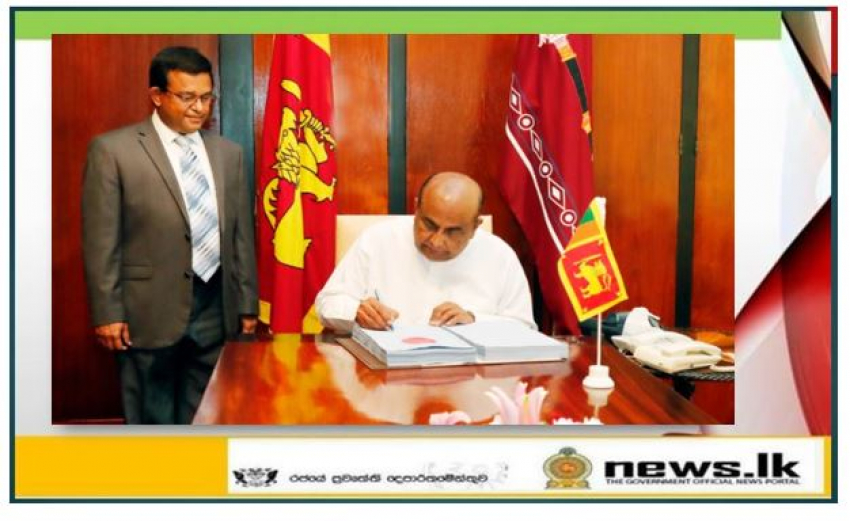 Hon. Speaker endorses the certificate on the Securities and Exchange Commission  of Sri Lanka Bill