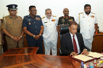 New Defence Secretary assumes office