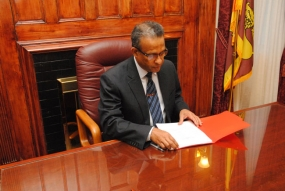 Prasad Kariyawasam assumes duties as ambassador to the US
