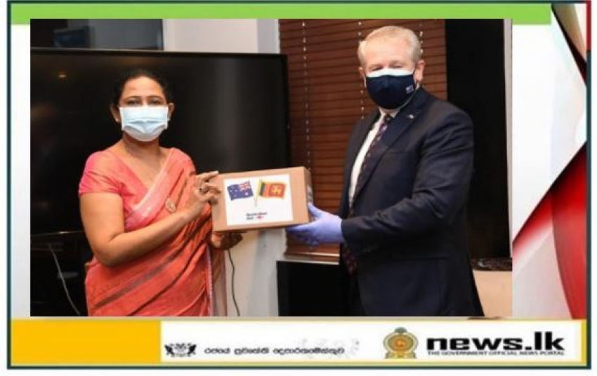 From the Australian Government Rs. 38 million worth of personal protective clothing donated