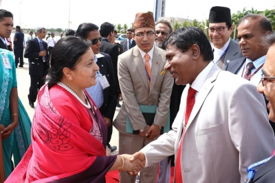 Nepal President leaves Sri Lanka