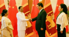 President Sirisena receives a grand welcome in China