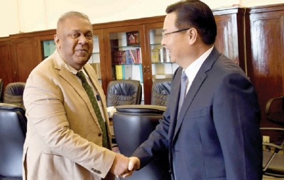 FM briefs Chinese envoy of plans to re-engage with IMF