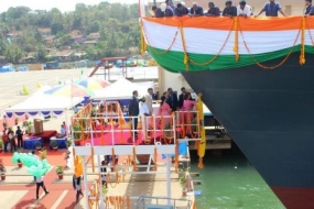 New Navy vessel officially launched at Goa Shipyard