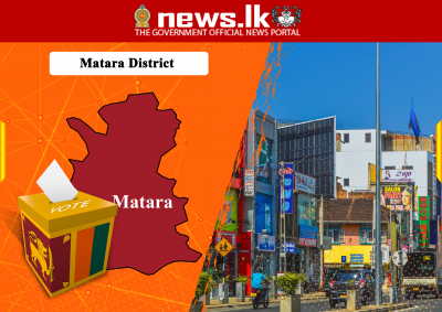 OFFICIAL ELECTION RESULTS PARLIAMENTARY ELECTION - 2020 -District : Matara  Seat Allocation