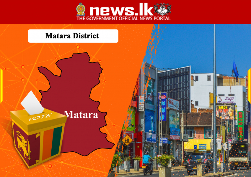 OFFICIAL ELECTION RESULTS PARLIAMENTARY ELECTION - 2020 -District : Matara  Seat Allovation
