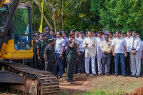 Army Troops Start Renovation of 'Chandana Pokuna' Tank