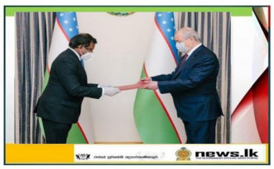 Ambassador Prof. M.D. Lamawansa presents Credentials to the Minister of Foreign Affairs of Uzbekistan