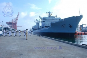 Two Pakistan Naval Ships arrive at Colombo Port