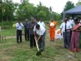 HNB inaugurates construction of Ranaviru Housing Scheme
