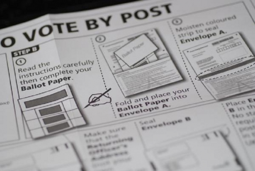 Postal vote applications accepted from today