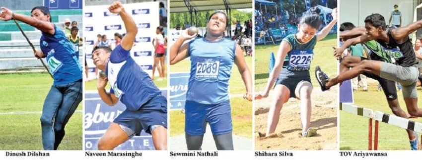 Junior athletes show their colours