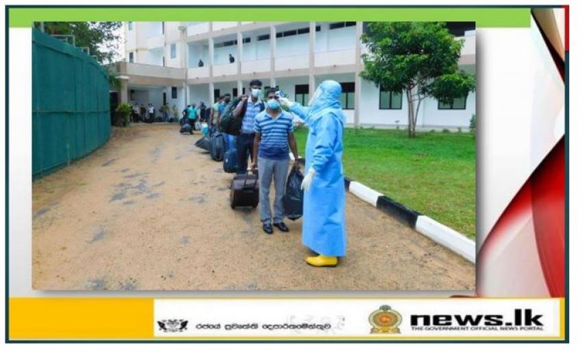 Twenty two inmates leave Kalpitiya and Boossa Naval quarantine centers