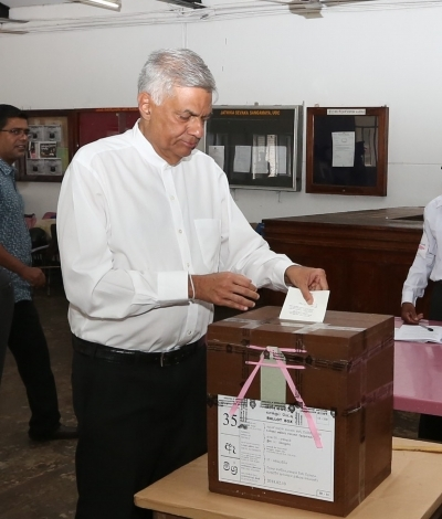 Prime Minister Wickremesinghe casts his vote