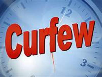Island-wide Police curfew from 9pm to 4 am tomorrow