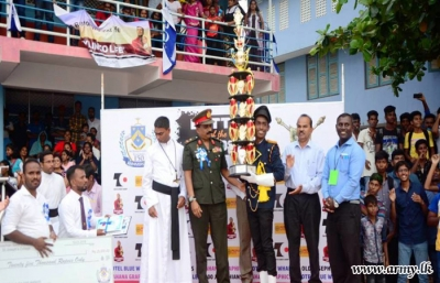 Troops assist inter school band competition