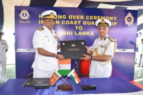 India provides naval vessel to Sri Lanka