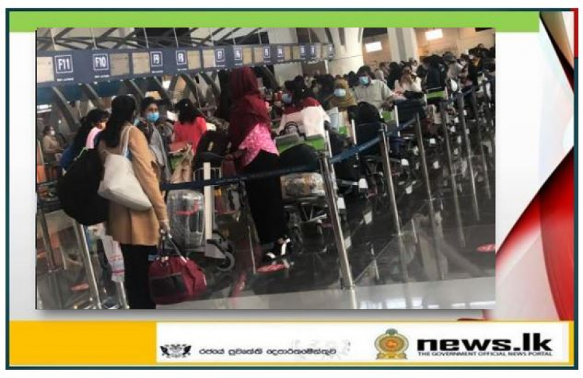 Sri Lanka Embassy in Oman repatriates 568 stranded Sri Lankan  Migrant Workers back home