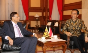 Minister Peiris calls on President–elect of Indonesia