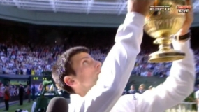 Novak Djokovic wins tense Wimbledon final