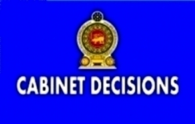 DECISIONS TAKEN BY THE CABINET OF MINISTERS AT ITS MEETING HELD ON 19-04-2016